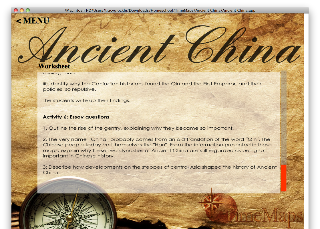 Thesis about ancient china